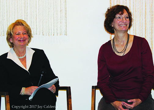 Ellen & Denise Hammond seated & smilling