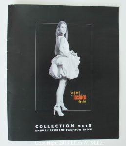 Fashion Show program, front cover