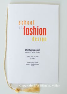 Graduation program, front cover