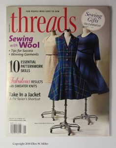 Cover of Threads magazine, novemeber 2018, featuring their annual gift guide