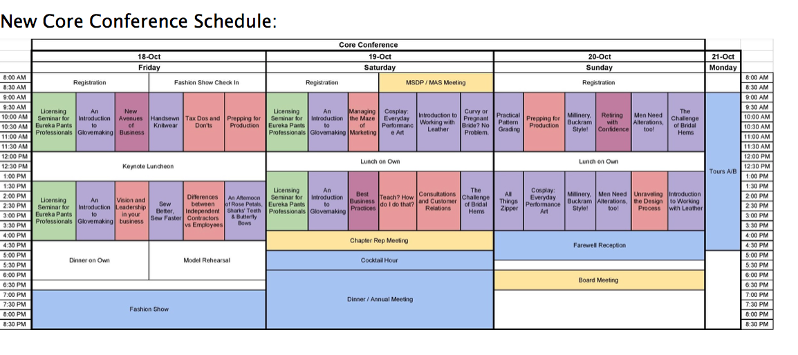 ASDP Conference Schedule