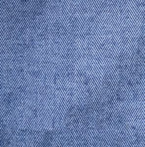 Blue and silver Herringbone wool