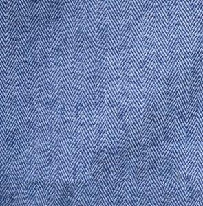 Blue and silver Herringbone wool