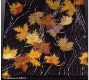 Falling leaves on black