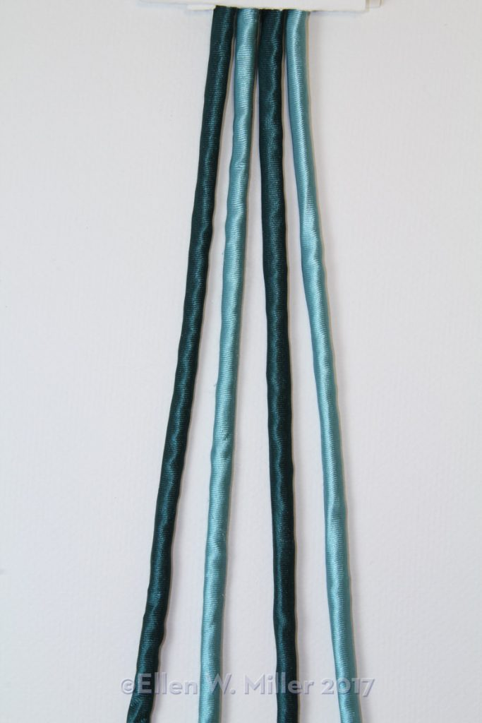 Four strand braid variation, with two only colors of strands