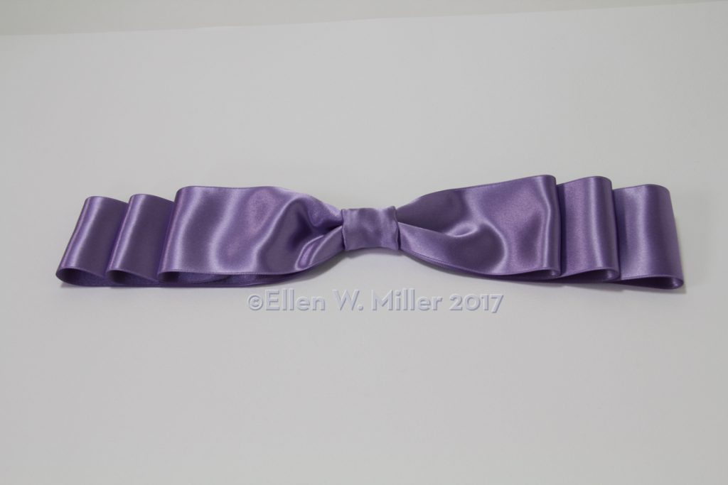 The completed stepped bow.