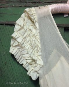 Close up of the ruffled sleeve.