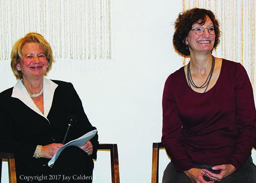Ellen & Denise Hammond seated & smilling