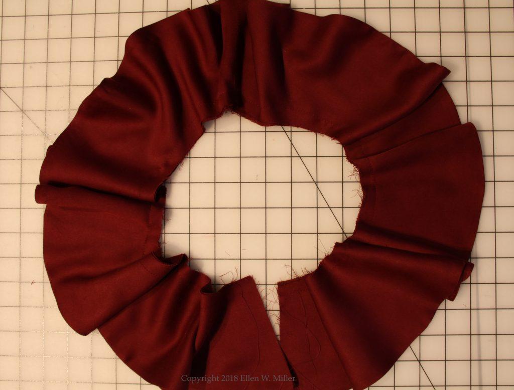 Four circles made into onr long flounce
