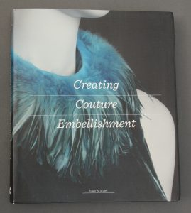 My book, Creating Couture Embellishment sitting on my work table.